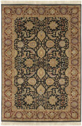 Surya Taj Mahal Tj-6576 Black / Red Area Rug