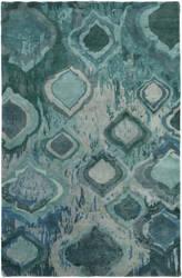 Surya Watercolor Wat-5012 Emerald/Kelly Green Area Rug
