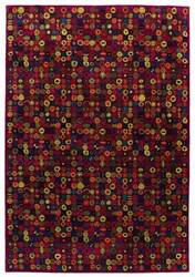Tibet Rug Company 100 Knot Premium Tibetan Bottlecaps Red Area Rug