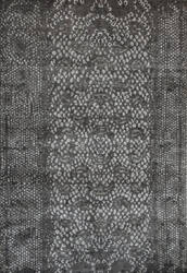 Tibet Rug Company 100 Knot Premium Tibetan Diamondback Black Area Rug