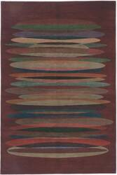 Tibet Rug Company 100 Knot Premium Tibetan Tall Stack Red Area Rug