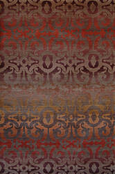 Tibet Rug Company 100 Knot Premium Tibetan Wrought Iron Walnut - Red Area Rug