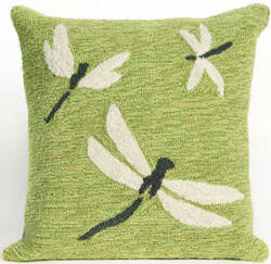 Trans-Ocean Frontporch Pillow Dragonfly 1415/06 Green Area Rug