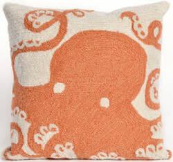 Trans-Ocean Frontporch Pillow Octopus 1432/17 Coral Area Rug