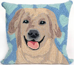Trans-Ocean Frontporch Pillow Puppy Love 1499/03 Blue Area Rug