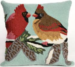 Trans-Ocean Frontporch Pillow Cardinals 1538/03 Sky Area Rug