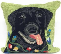 Trans-Ocean Frontporch Pillow Season's Greetings 1562/06 Green Area Rug