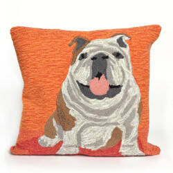 Trans-Ocean Frontporch Pillow Wet Kiss 1567/17 Orange Area Rug