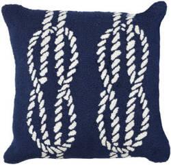 Trans-Ocean Frontporch Pillow Ropes 1636/33 Navy