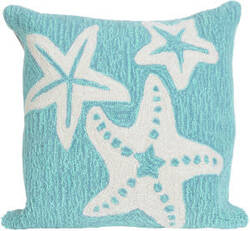 Trans-Ocean Frontporch Pillow Starfish 1667/04 Aqua