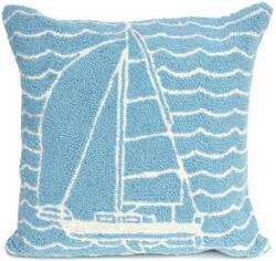 Trans-Ocean Frontporch Pillow Sails 1673/04 Ocean