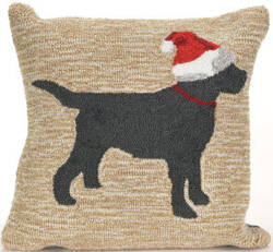 Trans-Ocean Frontporch Pillow Christmas Dog 1857/12 Neutral Area Rug