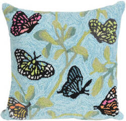 Trans-Ocean Frontporch Pillow Butterflies On Tree 2274/06 Green Area Rug