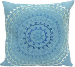 Trans-Ocean Visions Ii Pillow Ombre Threads 4105/04 Aqua Area Rug