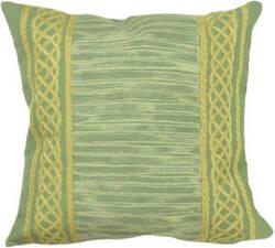 Trans-Ocean Visions Ii Pillow Celtic Stripe 4117/06 Grass Area Rug