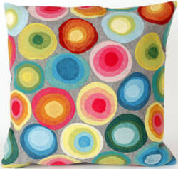 Trans-Ocean Visions Ii Pillow Puddle Dot 4128/44 Multi Area Rug
