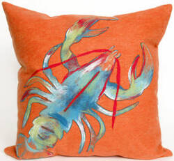 Trans-Ocean Visions Ii Pillow Lobster 4153/17 Orange Area Rug