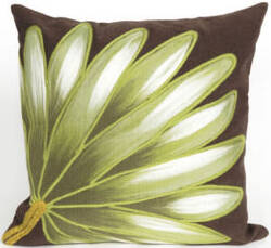 Trans-Ocean Visions Ii Pillow Palm Fan 4168/19 Chocolate Area Rug