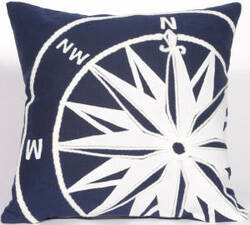 Trans-Ocean Visions Ii Pillow Compass 4183/03 Marine Area Rug