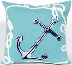 Trans-Ocean Visions Ii Pillow Marina 4184/04 Aqua Area Rug