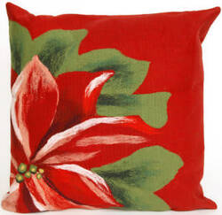Trans-Ocean Visions Ii Pillow Poinsettia 4205/24 Red Area Rug