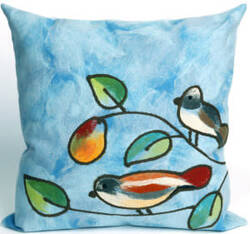 Trans-Ocean Visions Iii Pillow Song Birds 4119/03 Blue Area Rug