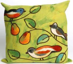 Trans-Ocean Visions Iii Pillow Song Birds 4119/06 Green Area Rug