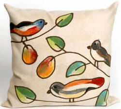 Trans-Ocean Visions Iii Pillow Song Birds 4119/12 Cream Area Rug