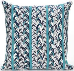 Trans-Ocean Visions Iii Pillow Braided Stripe 4125/04 Ocean Area Rug