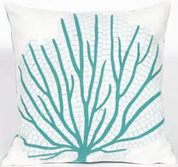Trans-Ocean Visions Iii Pillow Coral Fan 4185/04 Aqua Area Rug
