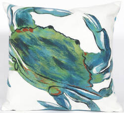 Trans-Ocean Visions Iii Pillow Blue Crab 4191/03 Sea Area Rug
