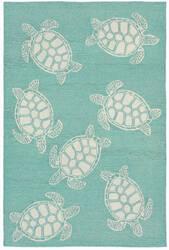 Trans-Ocean Capri Turtle 1634/04 Aqua Area Rug