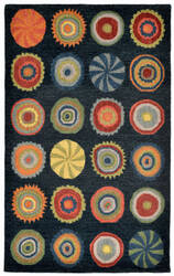 Trans-Ocean Inca Pop Circles Blue Area Rug