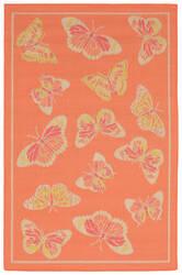 Trans-Ocean Playa Butterfly Orange Area Rug