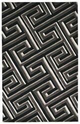 Trans-Ocean Roma Maze Grey Area Rug