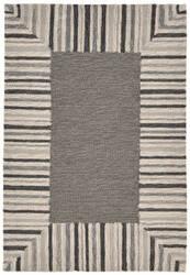 Trans-Ocean Ravella Pin Stripe Bdr Grey Area Rug