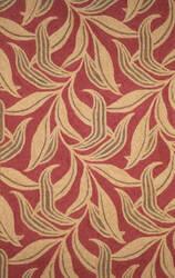 Trans-Ocean Ravella Leaf 1902/24 Red Area Rug