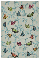 Trans-Ocean Ravella Butterflies On Tree 2274/06 Green Area Rug