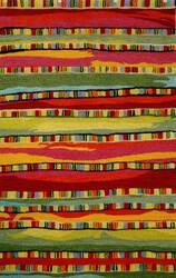 Trans-Ocean Seville Mosaic Stripe 9625/24 Fiesta Area Rug