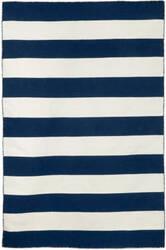Trans-Ocean Sorrento Rugby Stripe 6302/33 Navy Area Rug