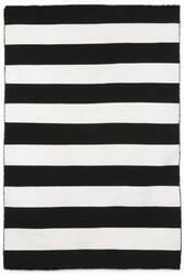 Trans-Ocean Sorrento Rugby Stripe 6302/48 Black Area Rug