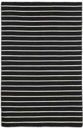 Trans-Ocean Sorrento Pinstripe 6305/48 Black Area Rug