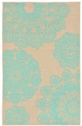 Trans-Ocean Terrace Crochet 1025/73 Turquoise Area Rug