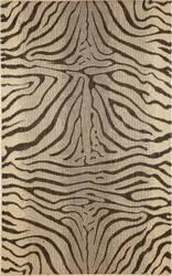 Trans-Ocean Terrace Zebra 1712/67 Charcoal Area Rug