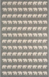 Trans-Ocean Terrace Elephants 1767/68 Silver Area Rug