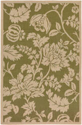 Trans-Ocean Terrace Floral 1779/76 Green Area Rug