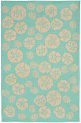Trans-Ocean Terrace Shell Toss 1790/93 Turquoise Area Rug