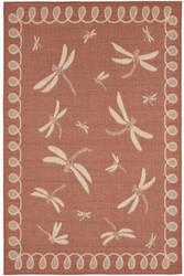 Trans-Ocean Terrace Dragonfly 1791/74 Terracotta Area Rug