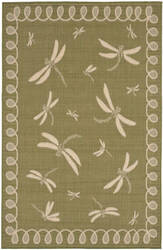 Trans-Ocean Terrace Dragonfly 1791/76 Green Area Rug