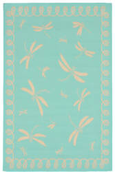 Trans-Ocean Terrace Dragonfly 1791/93 Turquoise Area Rug